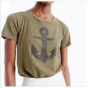 J. Crew embellished anchor graphic shirt size XS